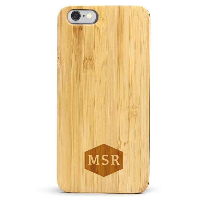 Wood Galaxy S6/s7 Case Monogram