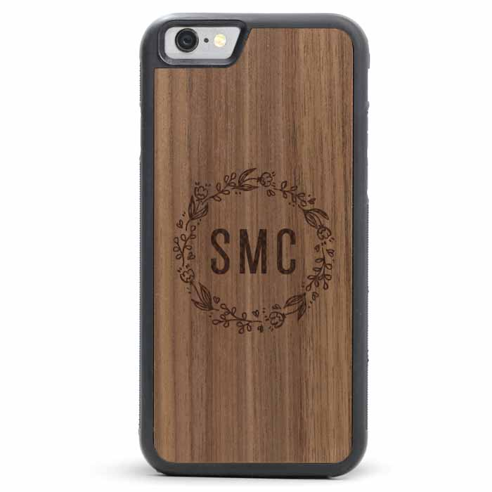 Wood iPhone 6/6s Plus Case - Wreath Floral