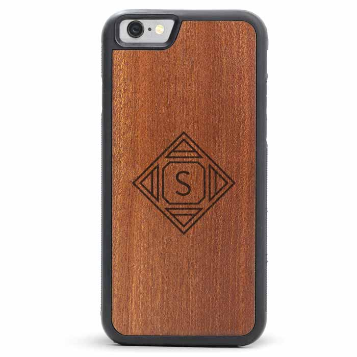 Geometric Design - iPhone 8 Wooden Case