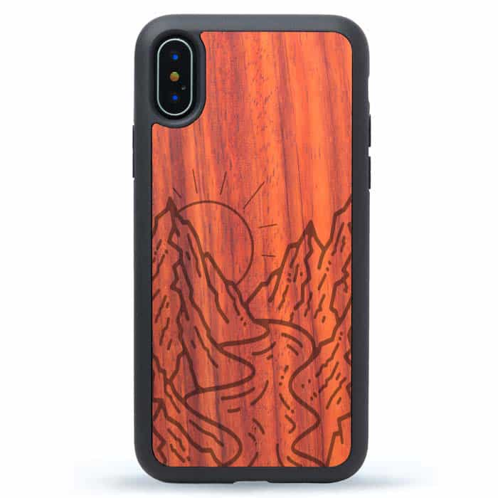 Mountain River Wooden iPhone XS Case