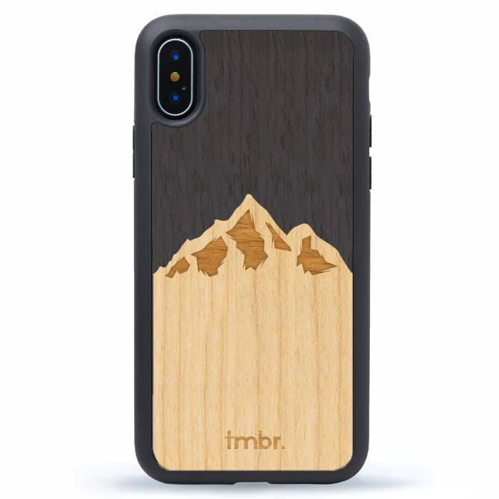 Mountain Peaks Wood iPhone Case