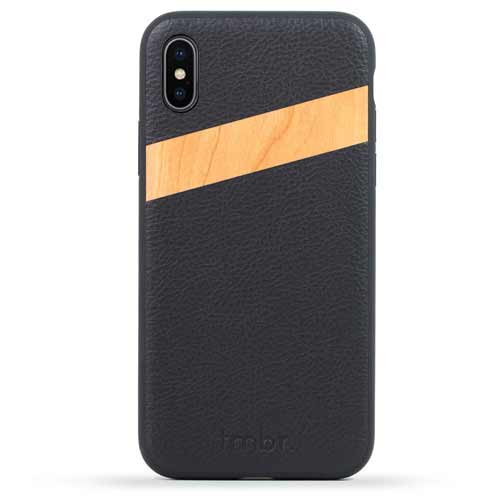 Leather / Wood iPhone X Cases
