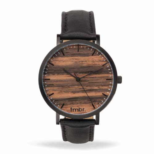 Helm Matte Black Sandalwood Watch
