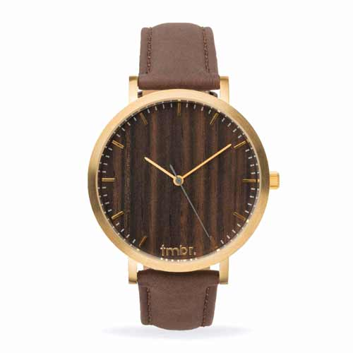 Helm Gold Walnut Wood Face Watch