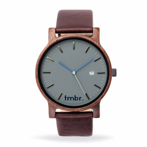 Journeyman Engraved Wood Watch - Granite Gray