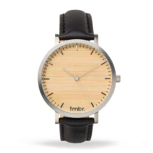 Helm Silver Rosewood Face Watch