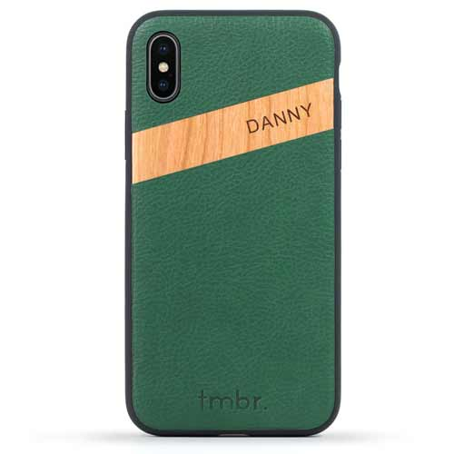 Leather / Real Wood iPhone X Cases
