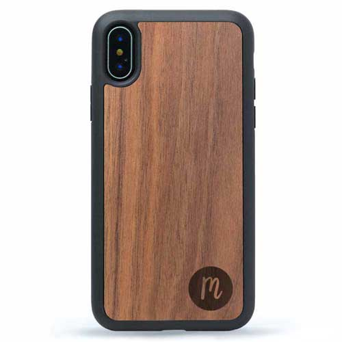 XS Max Real Wood Case Monogram