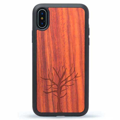 Real Wood iPhone X Case - Tree Design