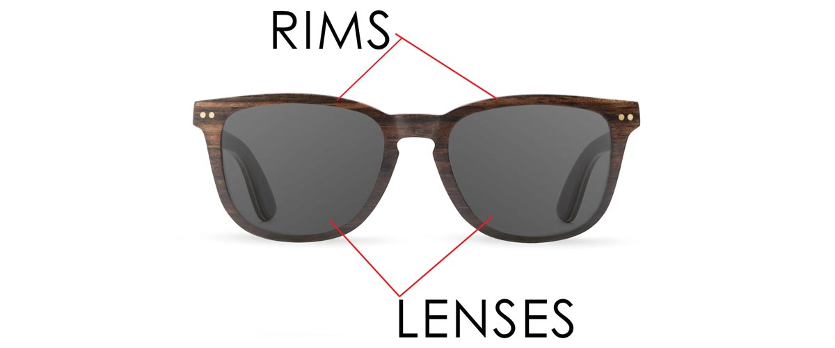 Parts of Sunglasses - Rims / Lenses
