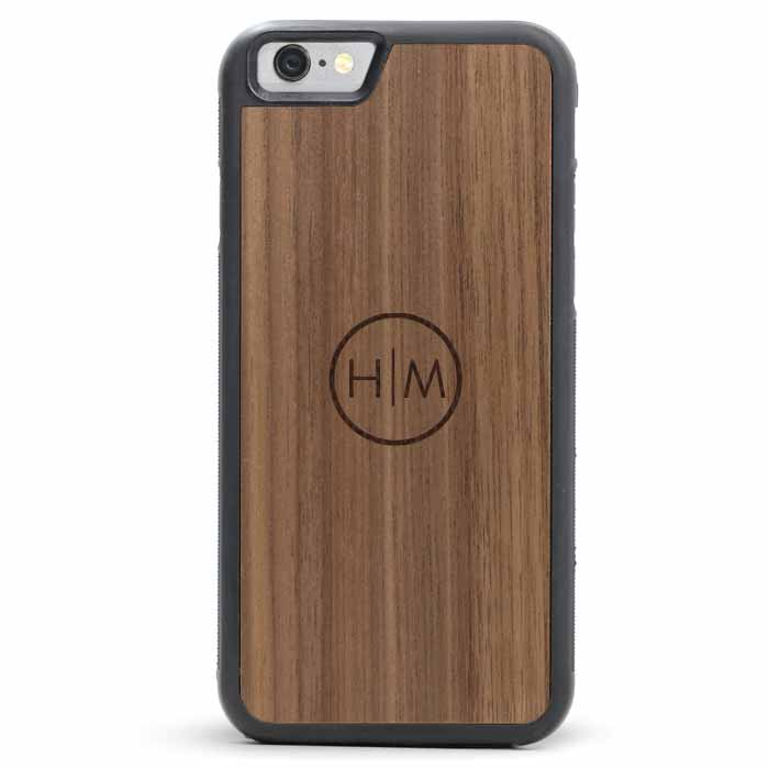 Wood iPhone 6/6s Plus Case - Ring Monogram