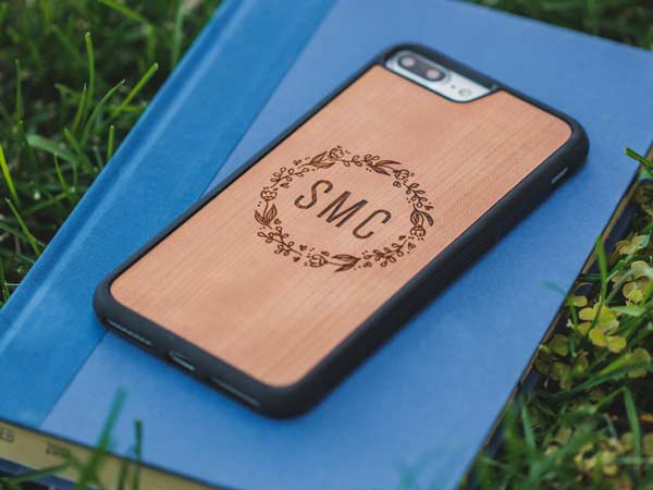 Custom Monogram Real Wood iPhone 8 Cases