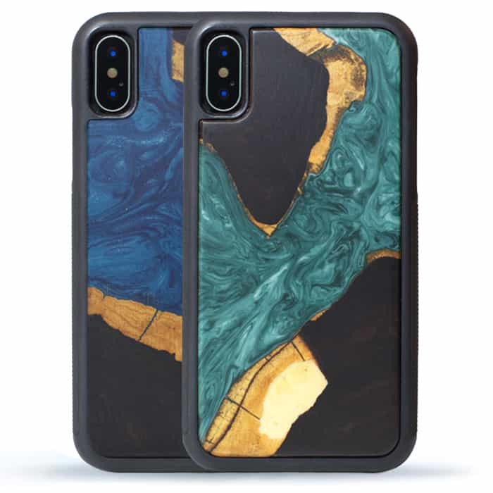 iPhone XR Resin + Wood Case