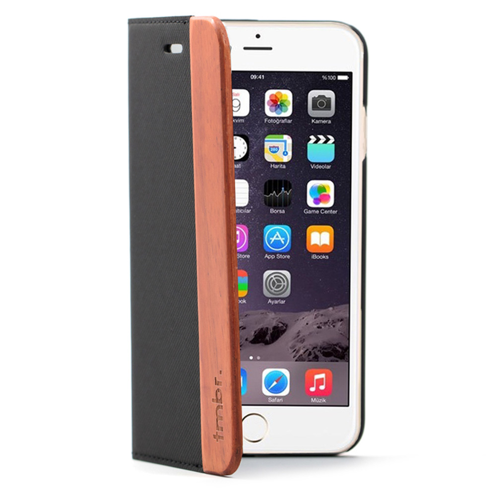 Wood iPhone 6/6s Plus Case - Folio Rosewood