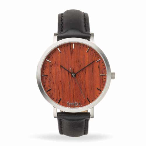 Helm Wood Watch Metal Band Rosewood