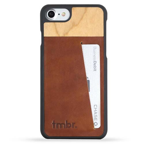 Wood iPhone 7 Leather Wallet Case