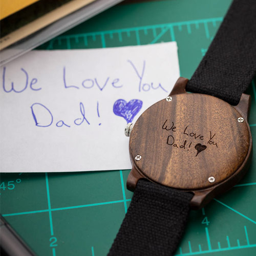Handwritten Watch Engraving