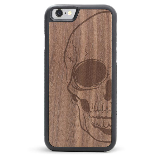 Skull Wooden Phone Case For iPhone SE