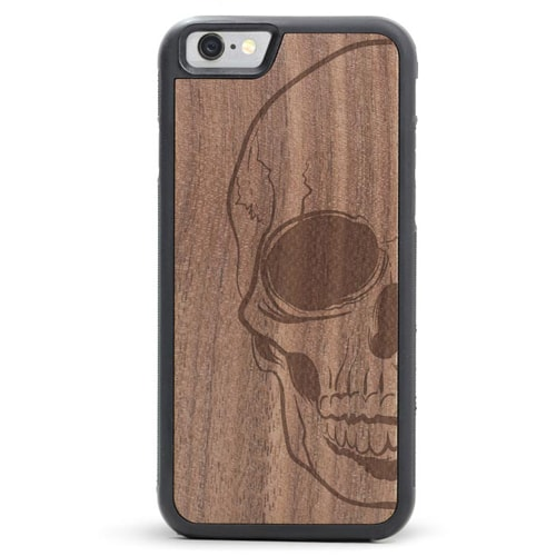Skull Wood Phone Case