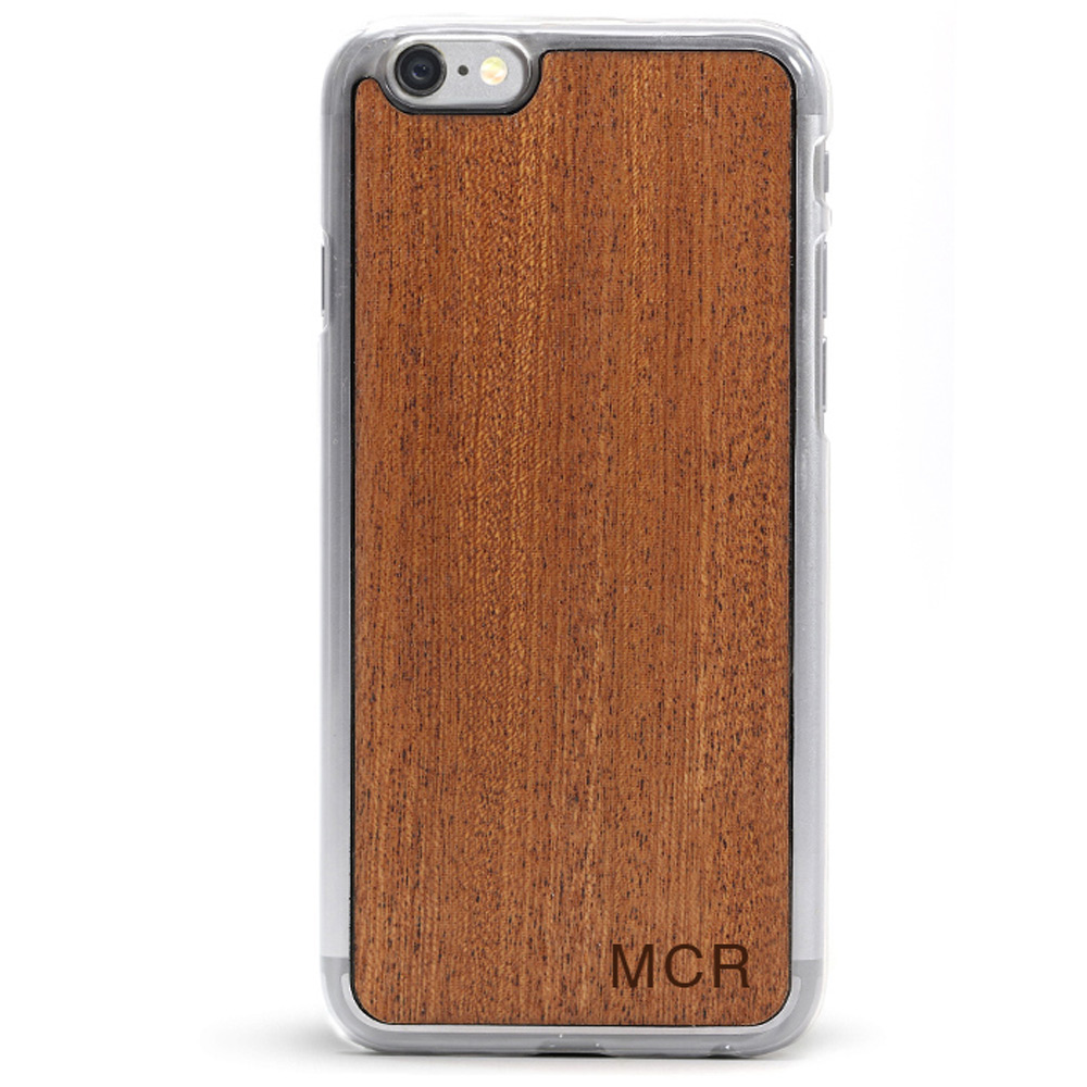 Mongrammed Wood iPhone 6 Plus Case
