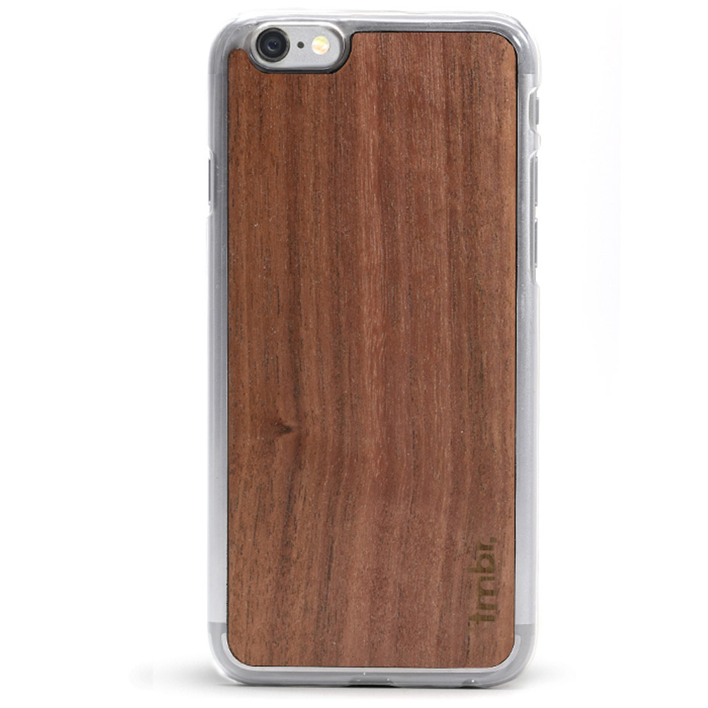 Wood iPhone 6/6s Plus Case - Clear Case Walnut