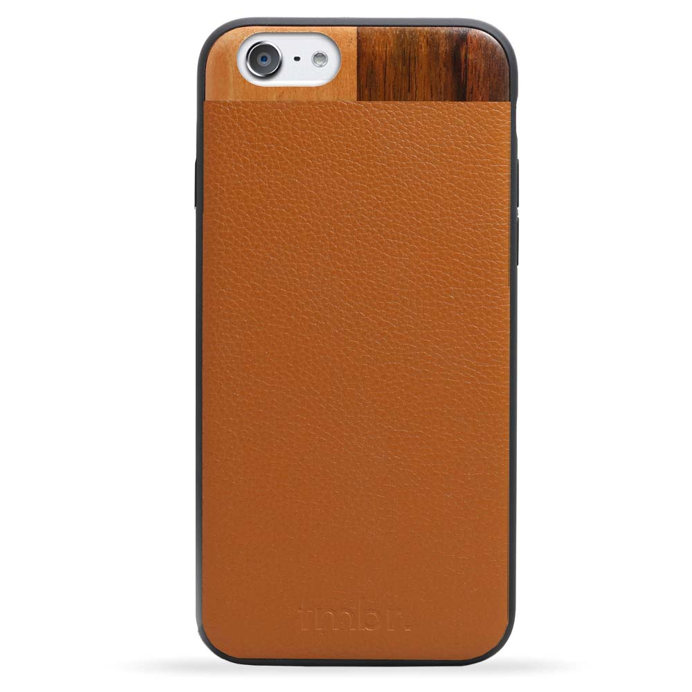 Leather/Wood iPhone 6/6s Case Tan