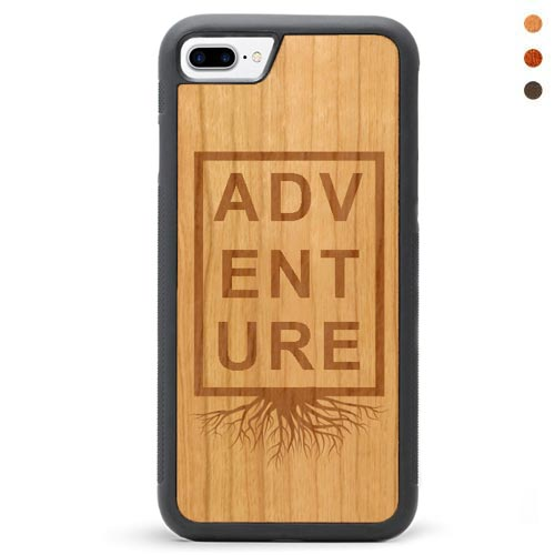 Engraved Wood iPhone 7 Plus Case Adventure