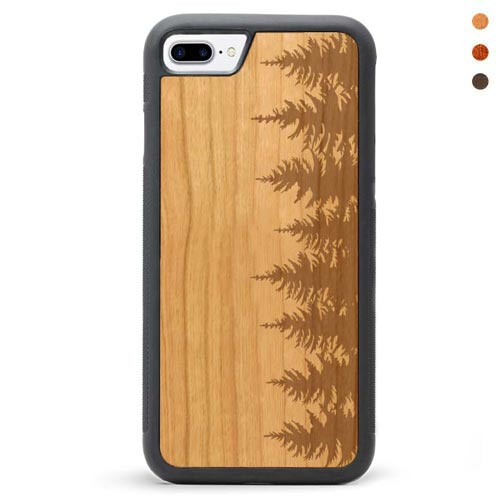 Engraved Wood iPhone 8 Case Forest