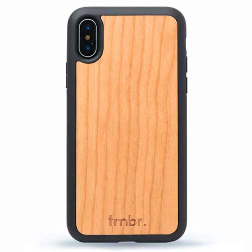 Cherry Wood iPhone X Case