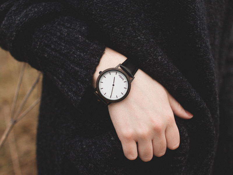 Spruce Minimalist Wood Bezel Watch