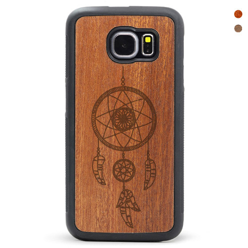 Wood Galaxy S6/s7 Case Dream Catcher