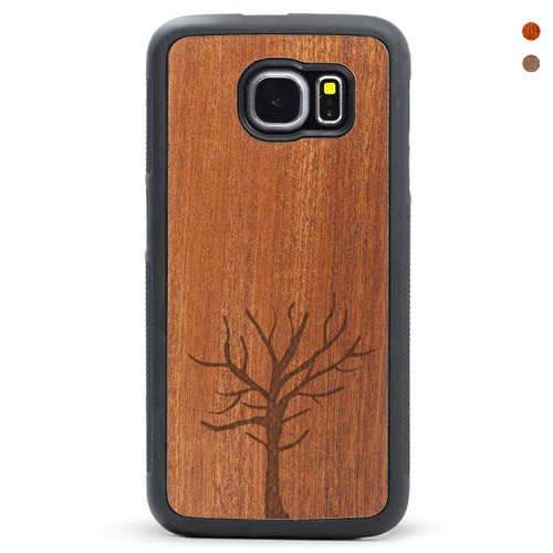 Wood Galaxy S6/s7 Case Tree Case