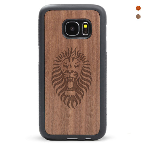 Wood Galaxy S6/s7 Case Lion