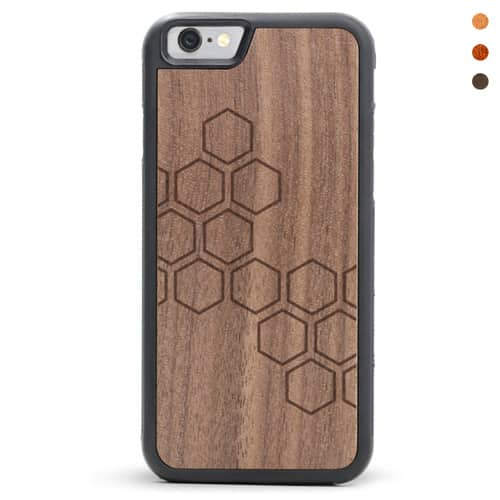 Honeycomb Engraved Wooden Case