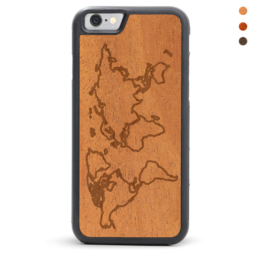 Wood iPhone Map Case