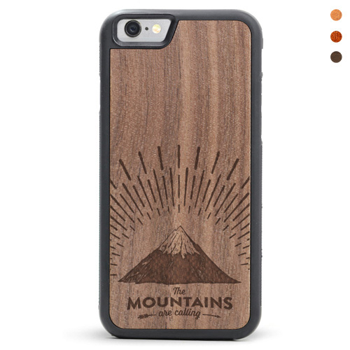 Wood iPhone Mountains Case
