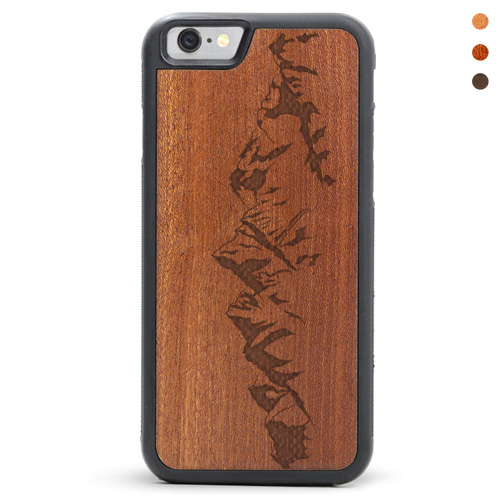 iPhone 6/6s Wood Case Mountains