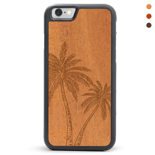 Wood iPhone Palm Trees Case