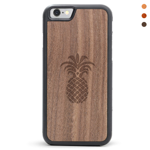 Wood iPhone Pineapple Case