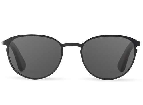 Titanium & Wood Black Sunglasses