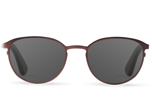 Titanium & Wood Red Sunglasses