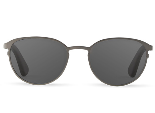 Titanium & Wood Silver Sunglasses