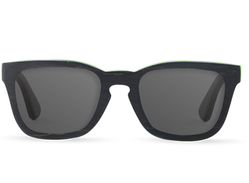 Lokey Black Wood Sunglasses