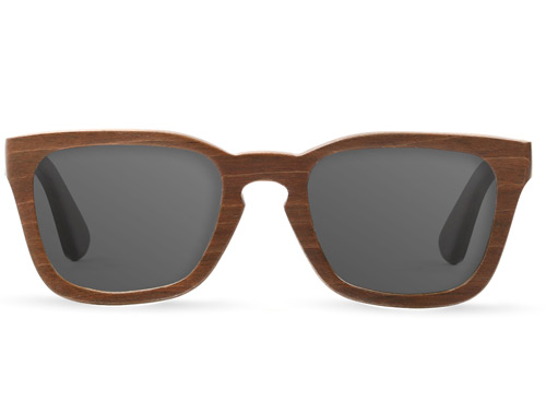 Tmbr Lo Key Brown Wood Sunglasses