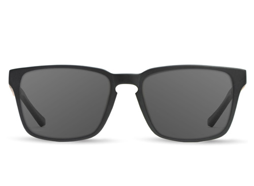 Midwest Matte Black Wood Sunglasses