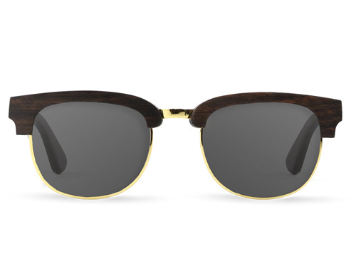 Tmbr Rivet Wood Sunglasses Ebony