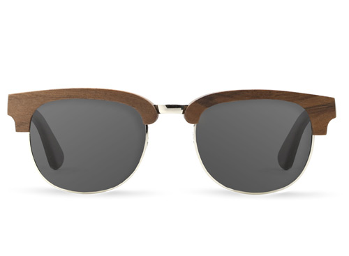 Rivet Walnut Wood Sunglasses
