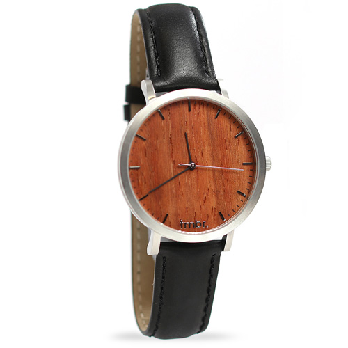 Tmbr Helm Minimalist Wooden Personalized Watch Rosewood