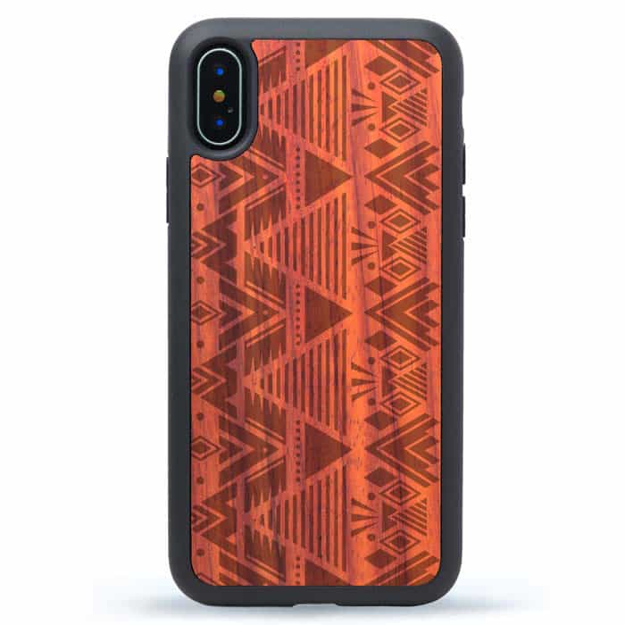 Tribal Pattern Wood iPhone XS Case