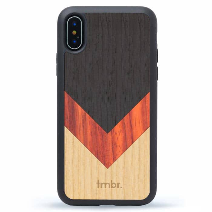Chevron Wood Inlay iPhone Case